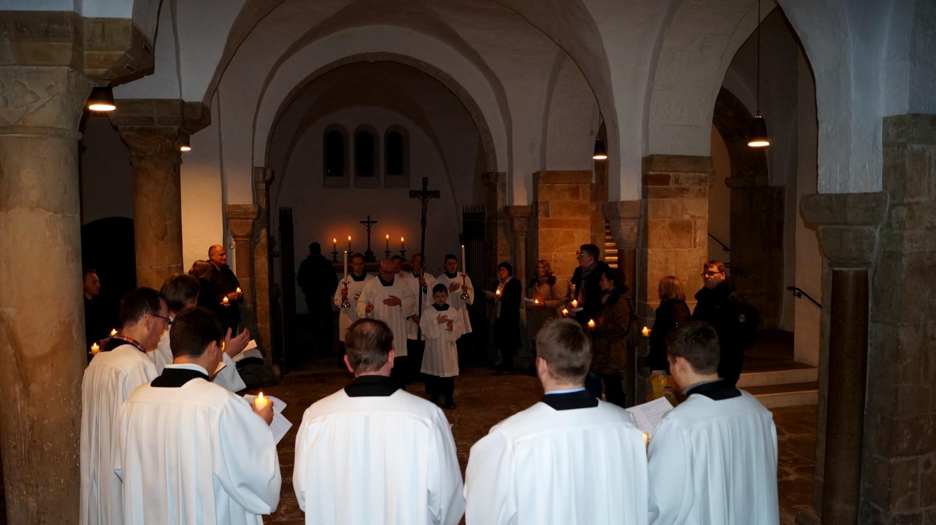 Statio an der Brigidenkapelle des Hohen Dom zu Paderborn