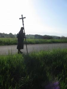 Am frühen Morgen sind es nur einige wenige Pilger - genaugenommen: Drei!